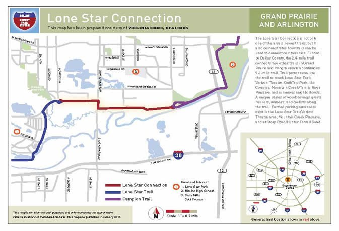 Lone Star Connection trail map