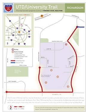 UTD/University Trail map